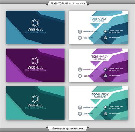 moderns business card template illustrator printer 5 modern business card template freedownload printing
