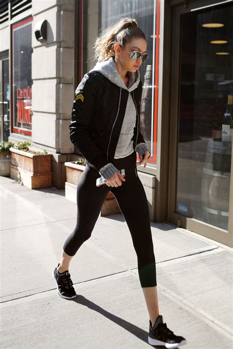 gigi hadid gym gigi hadid in leggings heads to the gym in nyc 1 16 2017