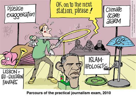 Journalist Requirements by Karikatur Satire Politik Wirtschaft Zeichnung