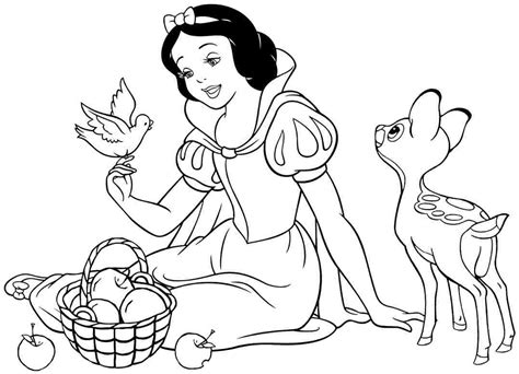 snow white coloring page snow white coloring pages to and print for free