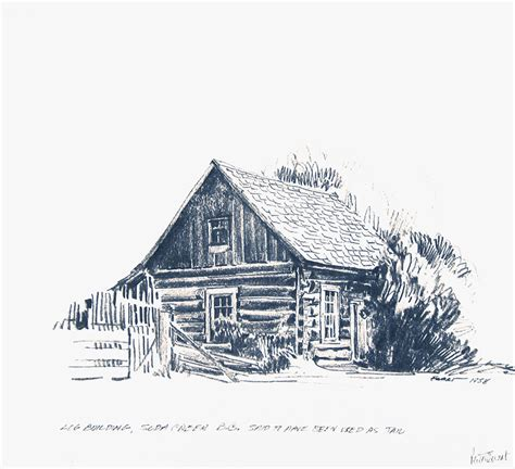 building sketch ewart sketches historic buildings of the cariboo