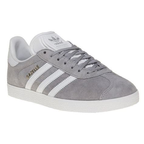 new womens adidas grey gazelle suede trainers animal lace up ebay