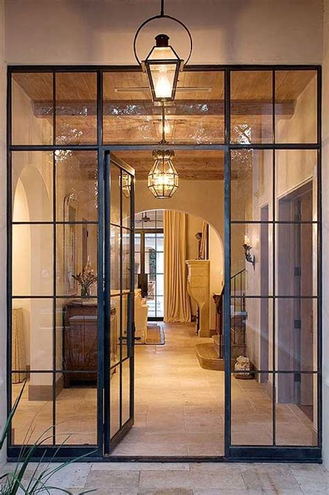 classic steel door frame french style  wide crippled