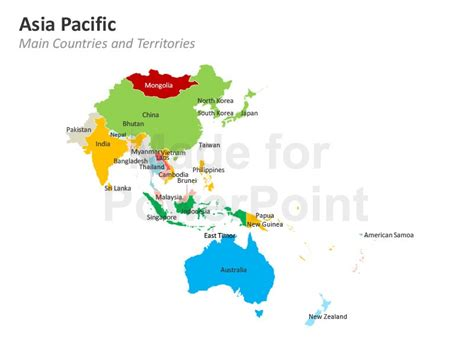Asia Pacific Region Map Outline by Asia Pacific Map Editable Powerpoint Template