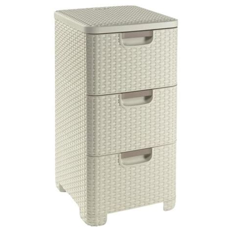 4 drawer plastic storage unit tesco buy curver my style 3 drawer storage unit from our