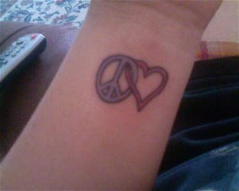 peace and love tattoos peace and inked