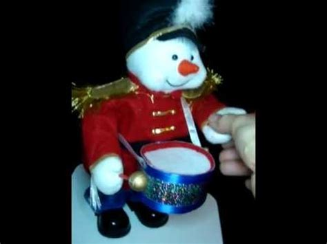 animated fibre optic snowman animated collections etc musical snowman fiber optic soldier drummer drum 15 quot