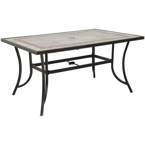 Tile Patio Table Barnwood 59 Quot Tile Top Patio Table T 3959 T6 Barnwd World Source International Afw