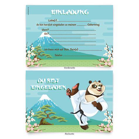 einladungskarten 8 st 252 ck zum selbst ausf 252 llen kinder