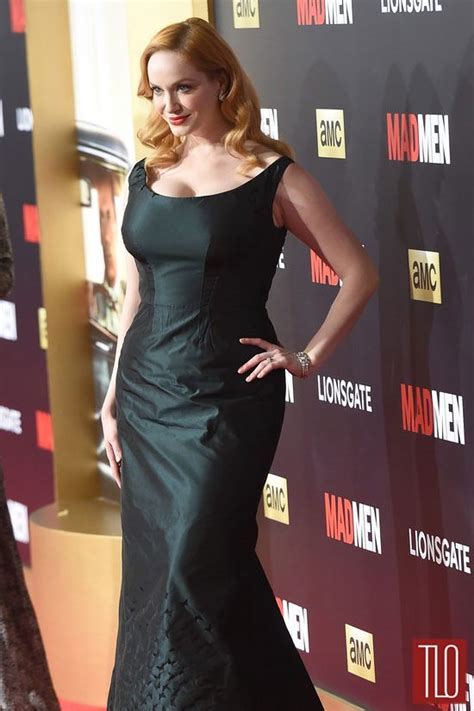 reviews on weaveologist fashion hendricks christina hendricks in zac posen at quot mad men quot black red