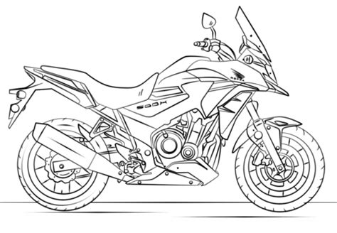 honda motorcycle drawing  getdrawings