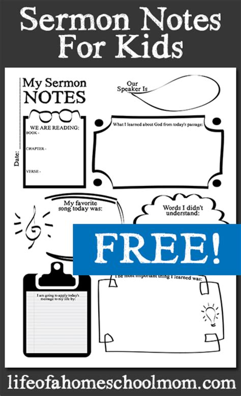 free printable games for children s church sermon notes for kids printables