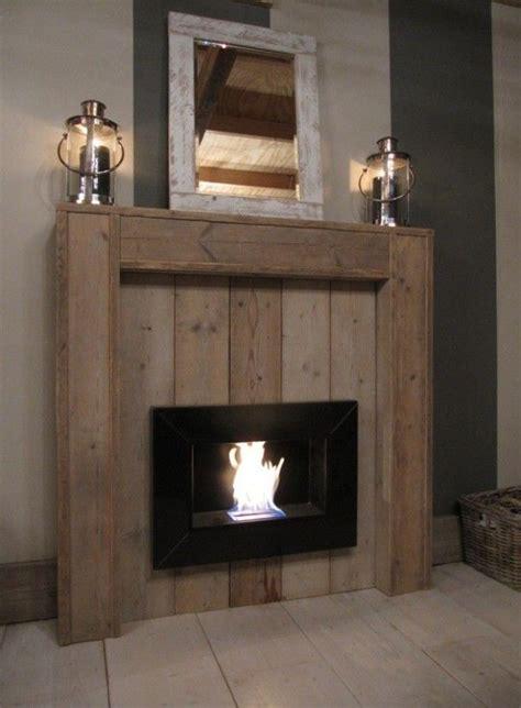 wood pallet fireplace houtwerk idees