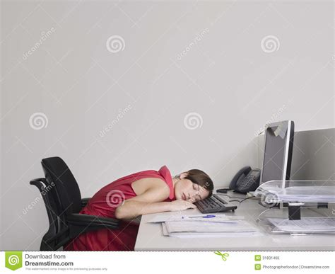 Office Worker At Desk Office Worker Asleep At Desk Royalty Free Stock Photo Image 31831465