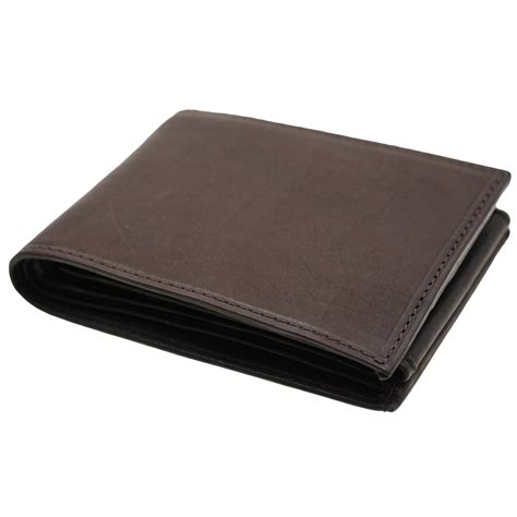 Cctv Walet mens leather wallet bifold flap out security snap 2 bill