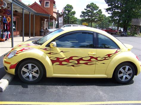 punch buggy car yellow yellow punch buggy with flames by boltanna on deviantart