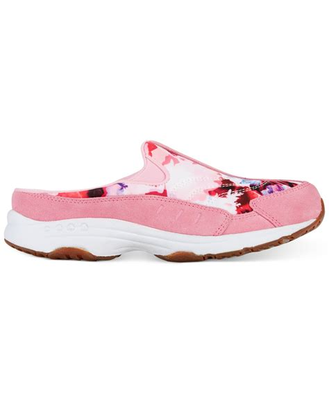 light sneakers for travel lyst easy spirit traveltime sneakers in pink