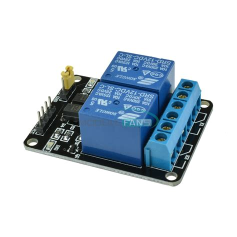 Dijamin Original 2 Channel Relay Module 12v two 2 channel relay module with optocoupler for pic avr dsp arm arduino m ebay