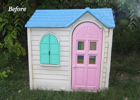 tikes house before after a tikes house gets a paint