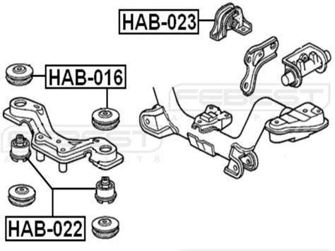 Engine Mounting Kiri Honda Crv Gen3 Matic 2007 2011 buy rear differential mount honda cr v rd1 rd2 1997 2001 oem 50713 sjg 000 motorcycle in