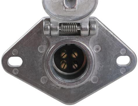 pollak heavy duty 4 pole pin trailer wiring socket