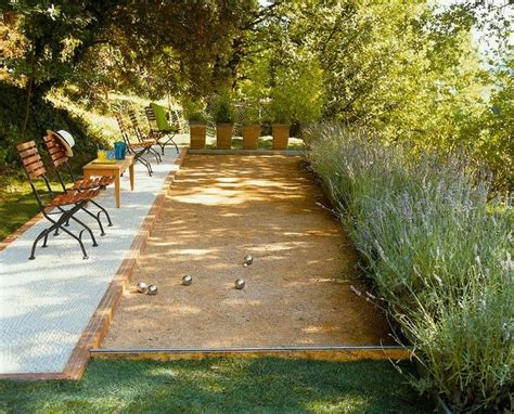 Backyard Bocce Ball Court Dream Casa Pinterest