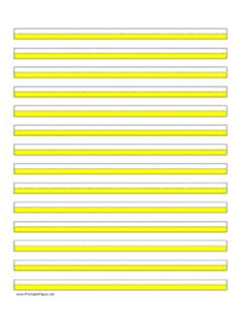 printable highlighted writing paper handwriting lines large landscape shaded pink