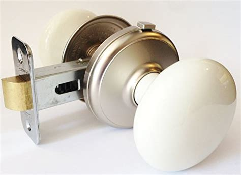 Interior Locking Door Knobs by Gainsborough Interior Locking Bisque Porcelain Satin