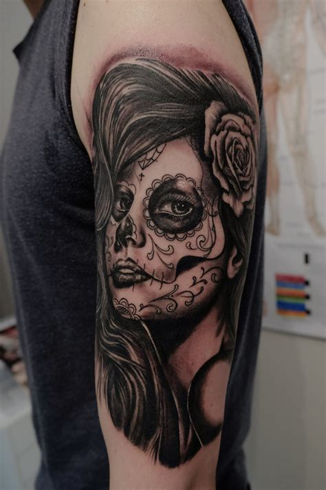 tattoos de catrinas la catrina by graynd on deviantart