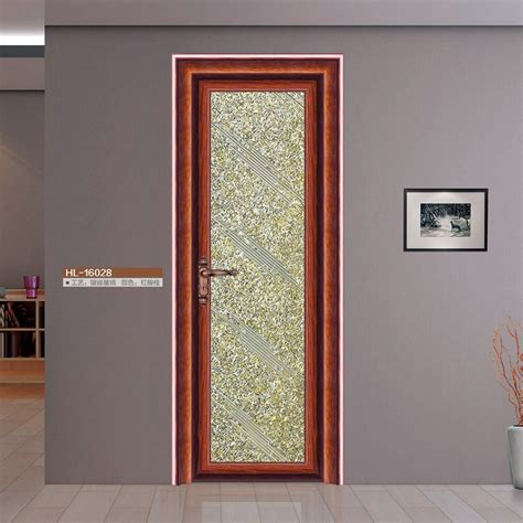 single swing door half glass design aluminum frame door aluminum doors
