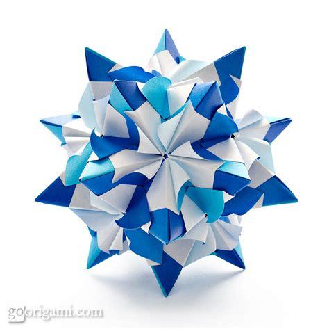 Origami Kusudama - chandelle kusudama by sinayskaya diagram go origami