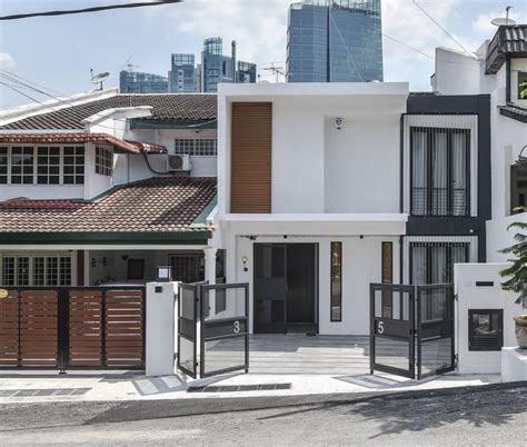 contemporary inverted house plans modern malaysian terrace