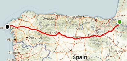 camino trail map camino de santiago frances palencia maps photos