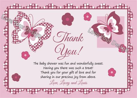 thank you note template baby shower how to decide appropriate baby shower thank you card