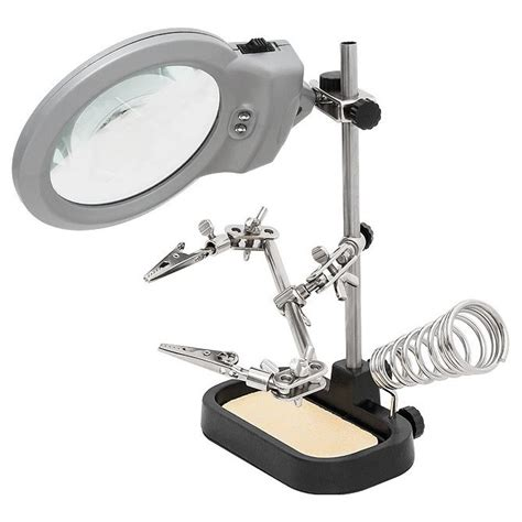 Helping With Soldering Stand helping magnifier led light with soldering stand