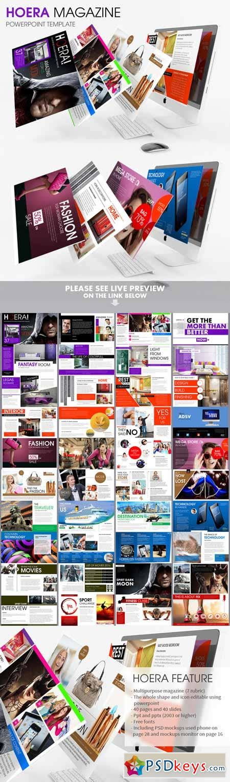 Hoera Magazine Powerpoint Template 174276 187 Free Download Photoshop Vector Stock Image Via Magazine Powerpoint Template
