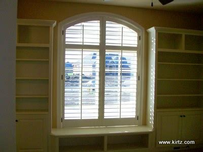 arch windows plantation shutters kirtz custom intended for