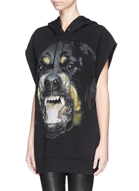 givenchy top rottweiler givenchy rottweiler hooded top in black lyst