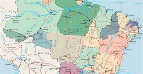 peta kota peta negara brazil