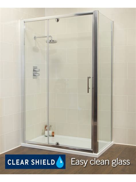 1200 Pivot Shower Door Kyra 1200 X 900mm Pivot Inline Shower Door