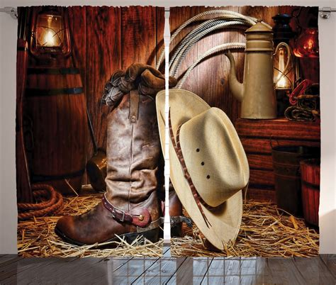 western cowboy home decor western theme cowboy boots and hat image rustic style