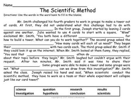 Scientific Method Worksheets For 5th Grade by 25 Best Ideas About Scientific Method Activities On