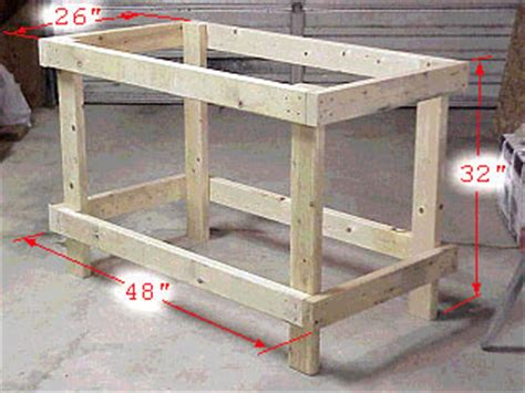 how to build a basic bench plans needed to build a simple workbench pirate4x4 com