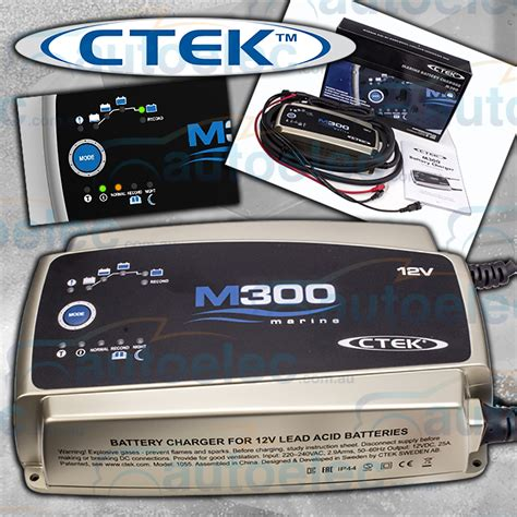 marine battery charger deep cycle ctek m300 25a marine caravan battery charger deep