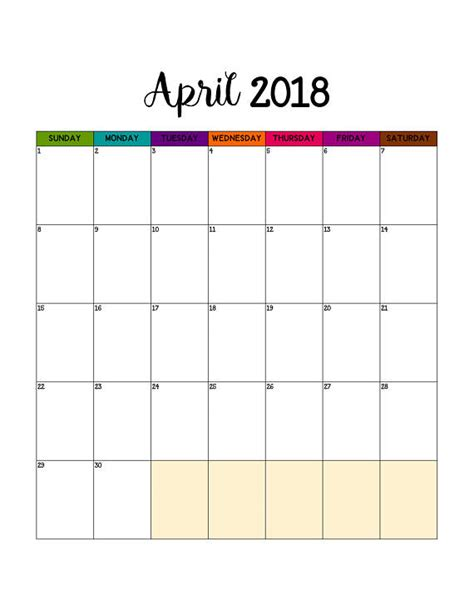 printable calendar planner 2018 2017 2018 monthly calendar printable may 2017 april 2018