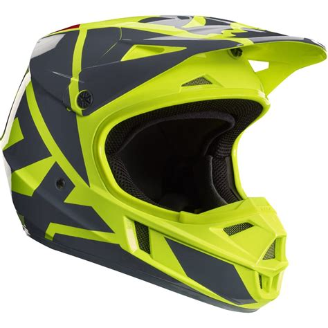 fox helmets motocross 2017 fox mx youth v1 helmet race yellow