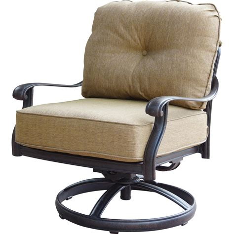 Patio Furniture Deep Seating Rocker Club Cast Aluminum Seating Patio Chair