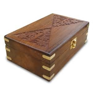 buy handmade brass engraving carved wooden jewelry box in