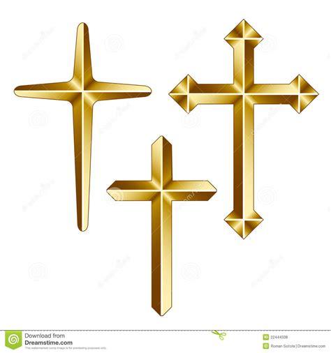imagenes de cruces satanicas cruces cristianas de oro fotos de archivo libres de