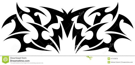 symmetrical tribal tattoos tribal element stock vector image 47470678